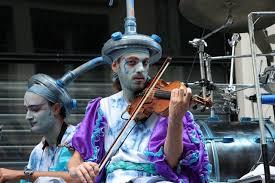 ian makeup show street violin concert artist instruments