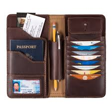 the interior of saddleback leather s largest wallet for men and women has rfid protection plus pockets