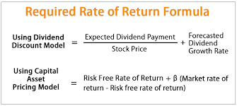 Required Rate Of Return Formula Step By Step Calculation