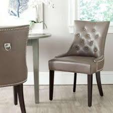 harlow clay bicast leather side chair set of 2 leather dining room