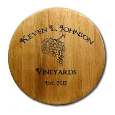 Barrel decor may not be for everyone, but this indoor coffee table from the rugged rooster proves you can easily make it your own. Personalized Wine Cellar Signs Including Barrel Head Art