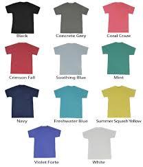 T Shirt Color Chart Fiesta Monogram Initial Pocket T Shirt