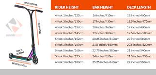 Scooter Bar Height Chart Creepingthyme Info