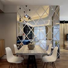 diy mirror frames fresh diamonds triangles wall art acrylic mirror wall sticker house