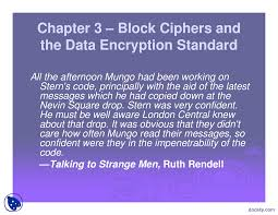 Block Cipher Design Principles Block Ciphers And The Data Encryption Standard Docsity