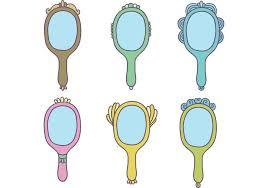 vintage hand mirror clipart. free vintage hand mirror vectors clipart