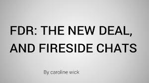 「roosevelt's fireside chats newdeal program」の画像検索結果