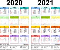 two year calender 2020 2021 calendar free printable two year word calendars throughout
