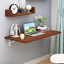 Floating shelf desk Wall Mounted Sjysxmfloating Shelf Wall Mounted Foldable Shelf Bracket Rectangle Brown Table Writing Desk Wall Table Sbiancamentodeidentiprodotti Amazoncom Sjysxmfloating Shelf Wall Mounted Foldable Shelf