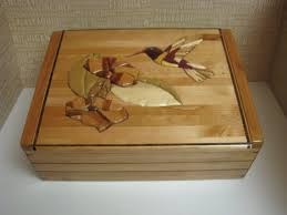 Large Wooden Boxes To Decorate Wood Jewelry Box Keepsake Box decorated with an Intarsia 18