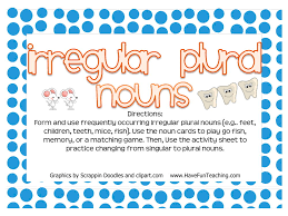 Irregular Plural Nouns Activity Have Fun Teaching