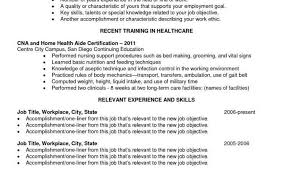 Cna Resume Objective From Cna Resume Template Free Free Resume