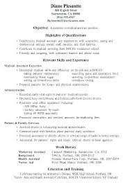 Examples Of Resumes For Medical Assistants Extraordinary Resume Objective For Receptionist Mmventuresco