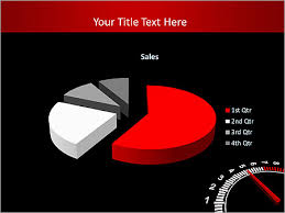 Auto Black And White Speedometer Animated Powerpoint Template