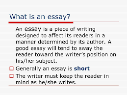 essay writing elements of the essay ppt  3 what is