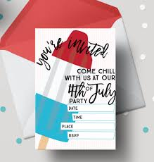 pop 4th of july free printable invitations