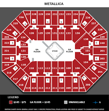 Metallica Seating Chart Events Queendarlene