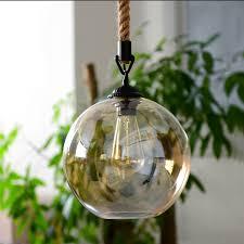 kiven glass rope globe shape pendant light glass ball lighting mondern ceiling lights kiven lighting ping