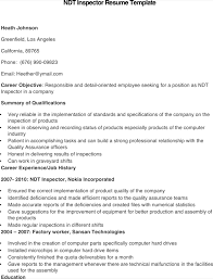 ndt resume samples download ndt inspector resume template for free formtemplate