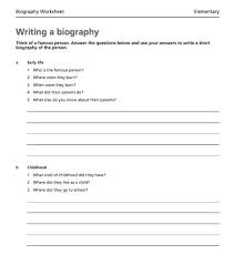 How To Write A Biography   Upper Primary School Students