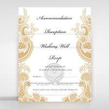 Wedding Card Design Gold Sealed Traditional Invitation W Monogram Tri Fold
