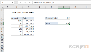 How To Use The Excel Xnpv Function Exceljet