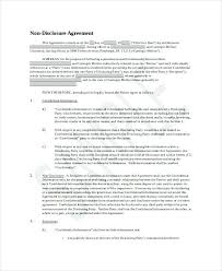 Simple Nda Template Free 8 Non Disclosure And Confidentiality Agreement Templates Free Simple