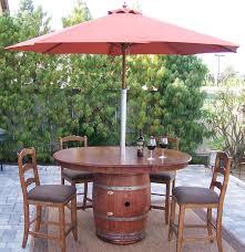 wine barrel outdoor furniture. Napa Style Wine Barrel Patio Table Outdoor Furniture R