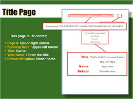 Apa Format For Papers Understanding Ppt Download