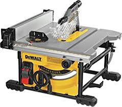 DEWALT Table Saw for Jobsite, Compact, 8-1/4-Inch ... - Amazon.com