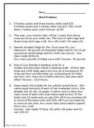 math worksheets word problems 8th grade
