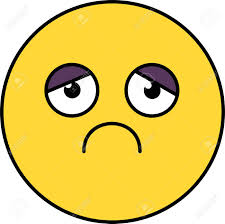 Sad Depressed Emoji Illustration Melancholy Upset Emoticon