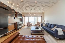 living room ceiling lights living room contemporary with area rug blue brown