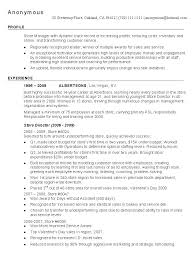Retail Store Manager Sample Resume