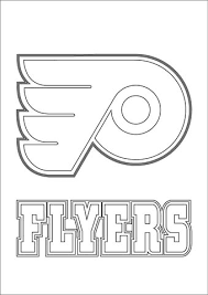 flyers logo outline philadelphia flyers logo coloring page free printable coloring pages