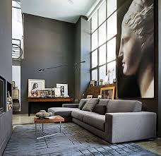 contemporary loft furniture. High Ceilinged, Contemporary Loft Space With Greys And Natural Wood Contemporary-living-room Furniture