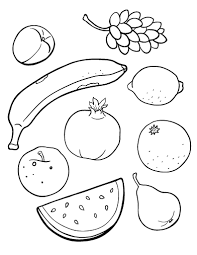Fruits Coloring Pages Vegetables And Fruits Human Body Fruit