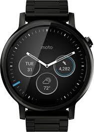 moto watch men. motorola moto 360 2nd gen (46 mm) for men black metal smartwatch watch t