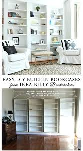 bookshelf desk home decor also impressive how to build built in bookcases from diy billy