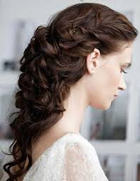 wedding updo hairstyle for curly long hair