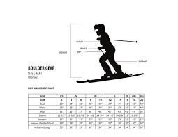 Boulder Gear Size Chart Boulder Gear Womens Lite Puffer Vest