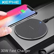 30W Wireless Charger for iPhone 11 Xs Max X XR 8 Plus 30W Fast Charging Pad  for Ulefone Doogee Samsung Note 9 Note 8 S10 Plus|Wireless Chargers