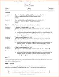 College Graduate Mdrafik College Resume College Resume