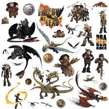 how to train your dragon l and stick wall decals