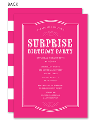 surprise birthday party invite surprise birthday party invitations invitation box