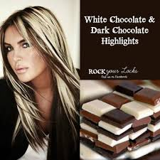 Chocolate And Blonde Highlights Hair Colour