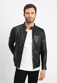 classic jacket leather jacket black