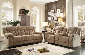 Laurelton Taupe Double Glider Reclining Loveseat With Console from ...