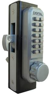 lockey 2950dc keyless mechanical digital mortised hook bolt double sided door lock