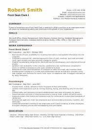 Desk Clerk Resumes Front Desk Clerk Resume Samples Qwikresume